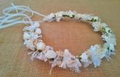 Corona arras blanca